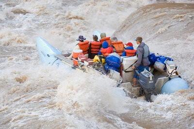 Rafting en Huesca iniciando el recorrido
