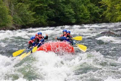 Rafting en Huesca rapidos