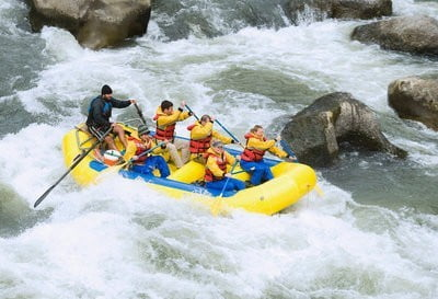 rafting en Madrid rapidos
