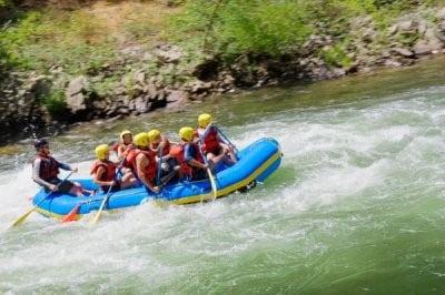 rafting en Valencia río en calma