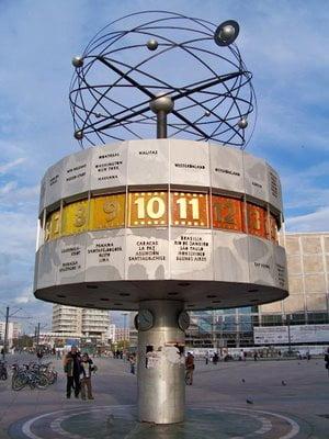 Reloj Mundial en Berlín