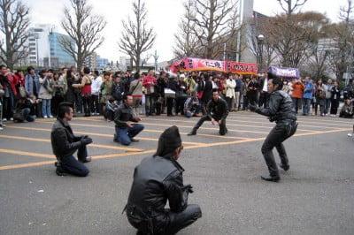 Rockabillys en el paPrque Yoyogi