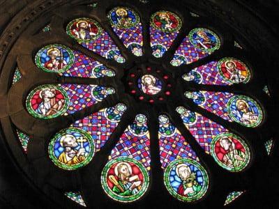 Rosetón de la Catedral de Lisboa