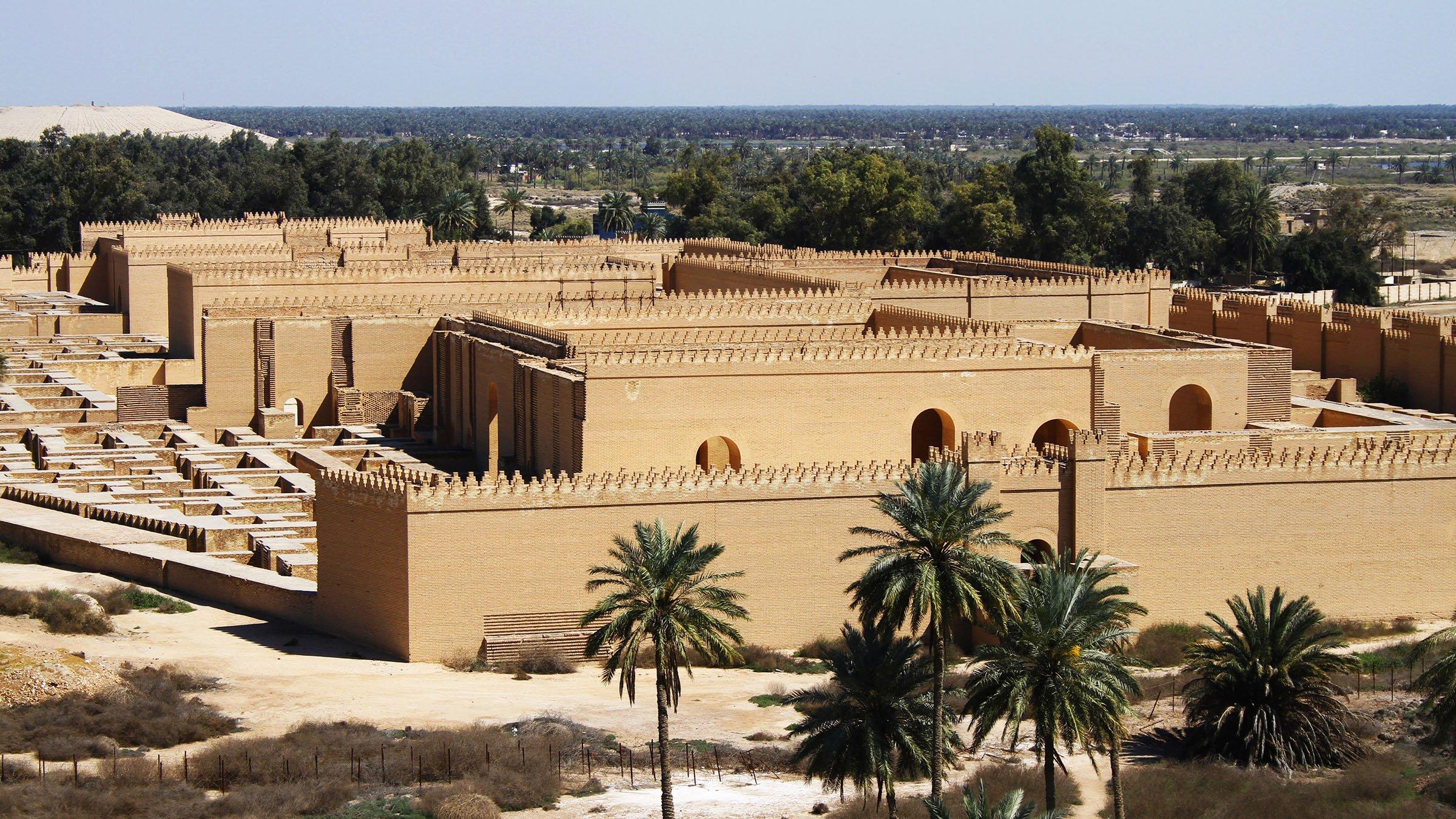 Ruinas restauradas de la antigua ciudad de babilonia en irak Hotel jardines de babilonia
