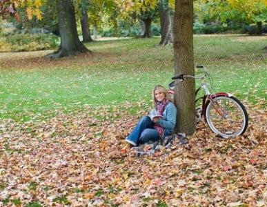 Rutas en bici descansando