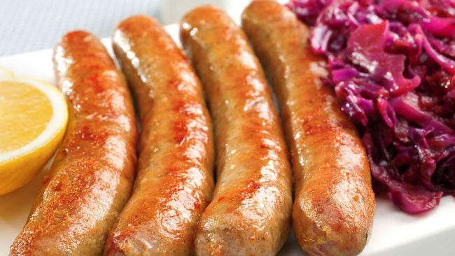 Bratwurst: typical German sausage