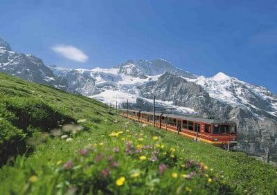Suiza en tren