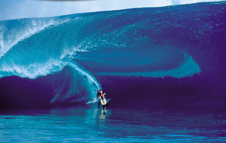 Surf en Teahupoo
