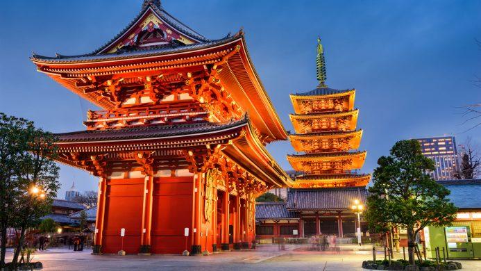 Templo de Sensoji en Asakusa, Tokio, Japón