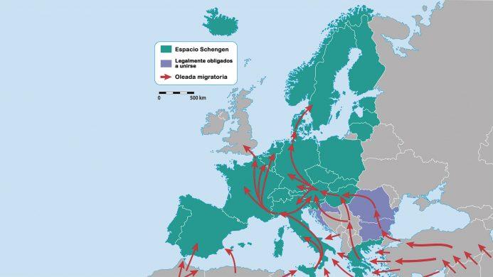 Tendencia del flujo migratorio hacia Europa Central