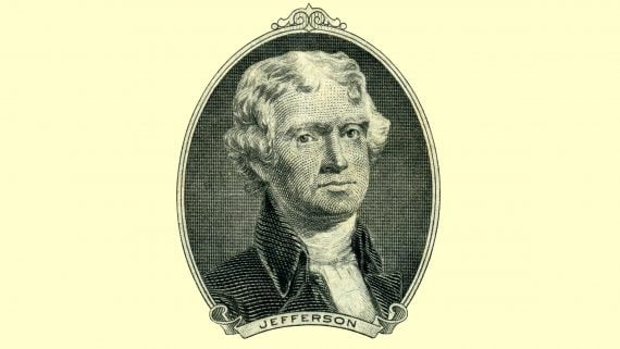 Thomas Jefferson tercer presidente de EE.UU.