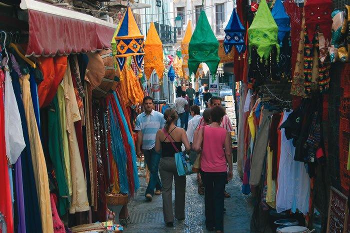 Tiendas de La Alcaicería de Granada