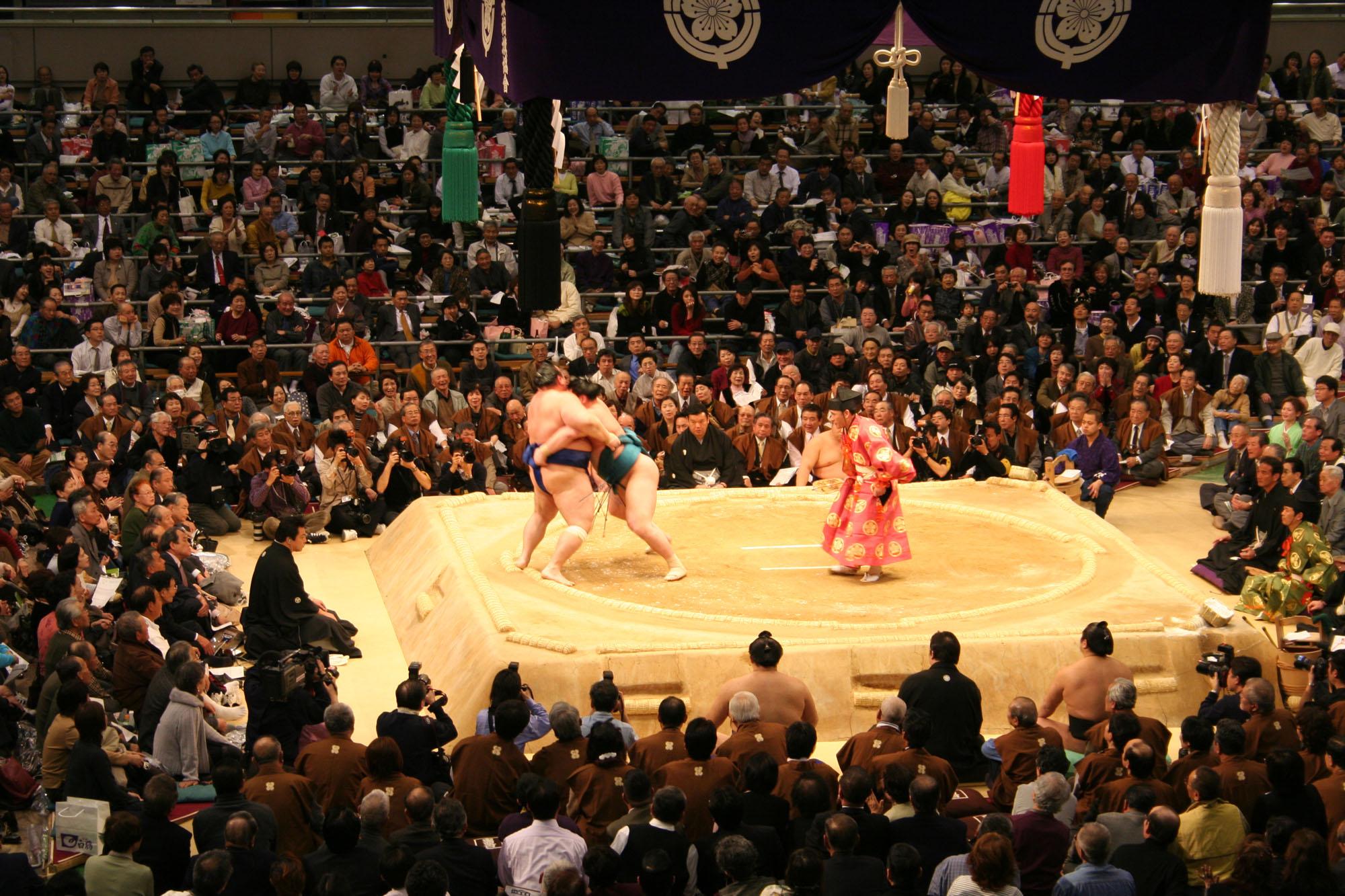 Torneo de Sumo en Japón