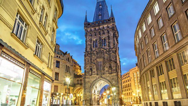Torre de la Pólvora, en el casco histórico de Praga