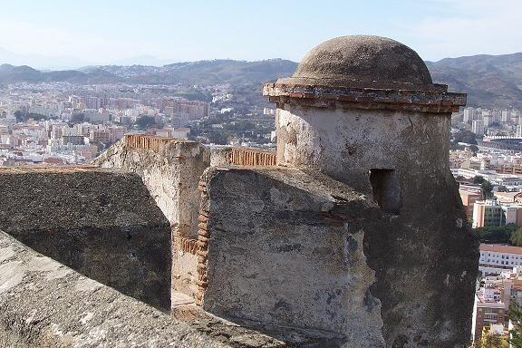 Torre del castillo de Gibralfaro