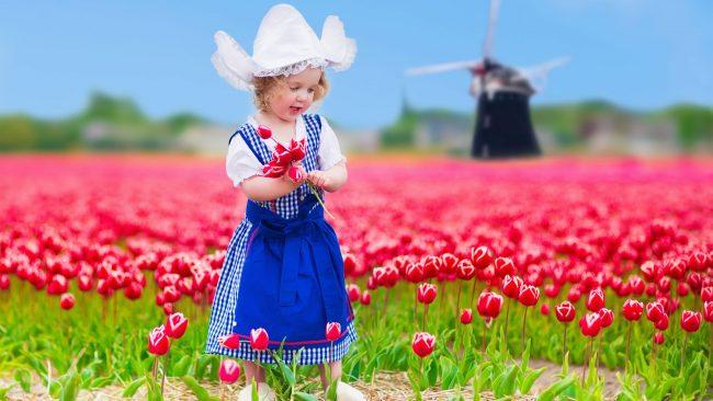 Traje típico de Holanda en versión infantil