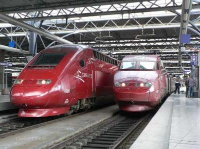 Tren en Bruselas