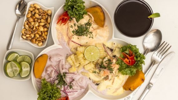 Tres tipos de ceviche peruano