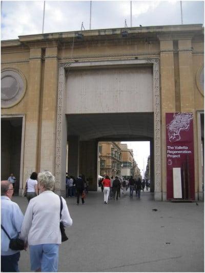 Puerta de entrada a la Valeta
