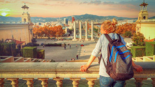 Turismo mochilero en Barcelona