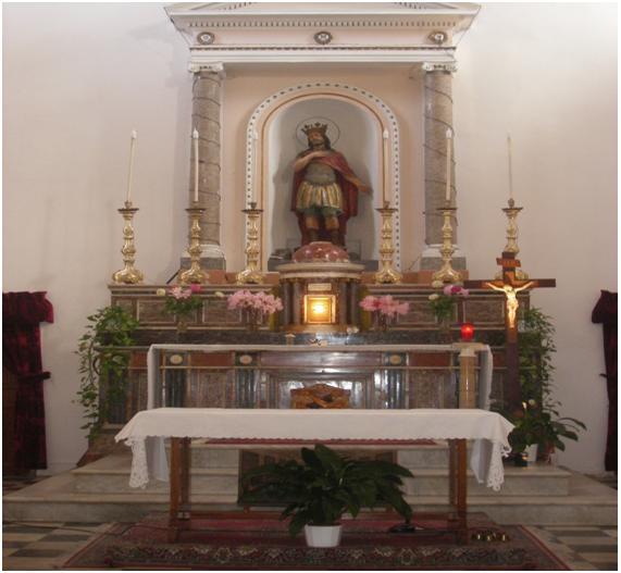 Interior de la Iglesia de Utisca