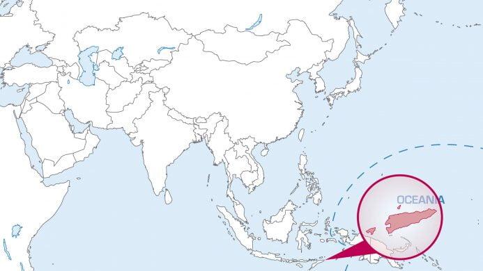 Úbicación de Timor Oriental en el mapa