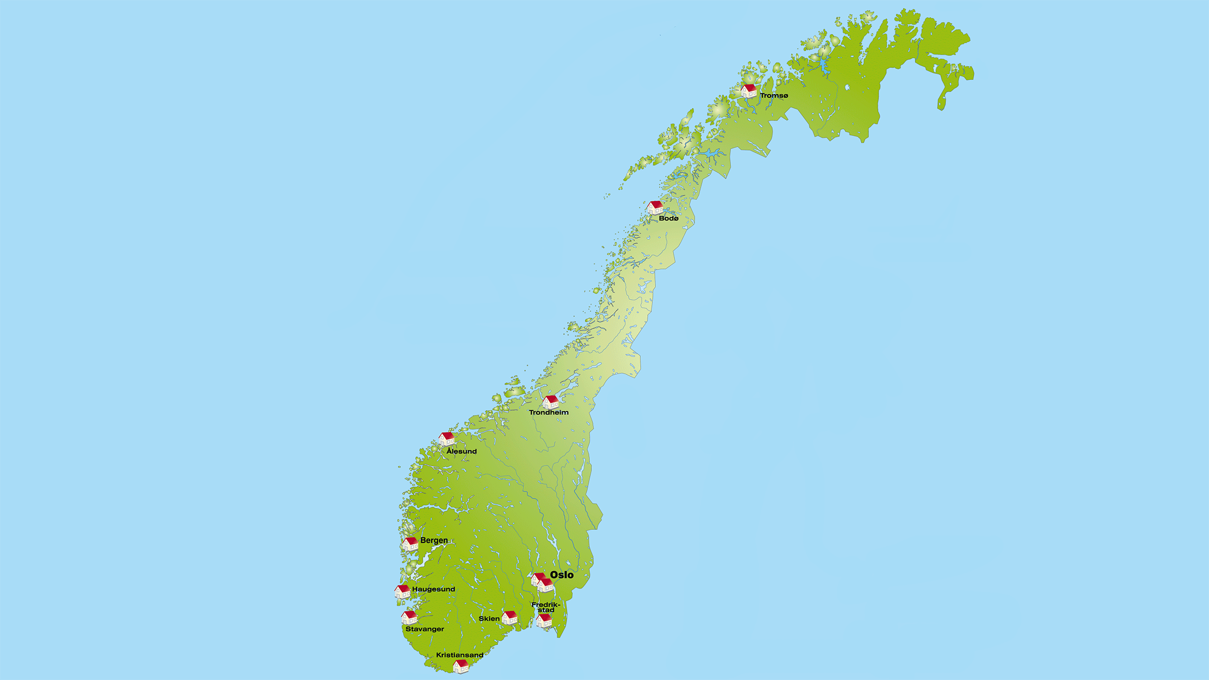 Vegetación de Noruega
