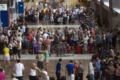 Aeropuerto en verano