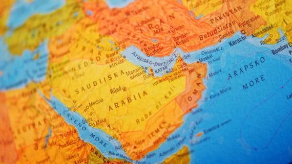Map of the Arabian Peninsula