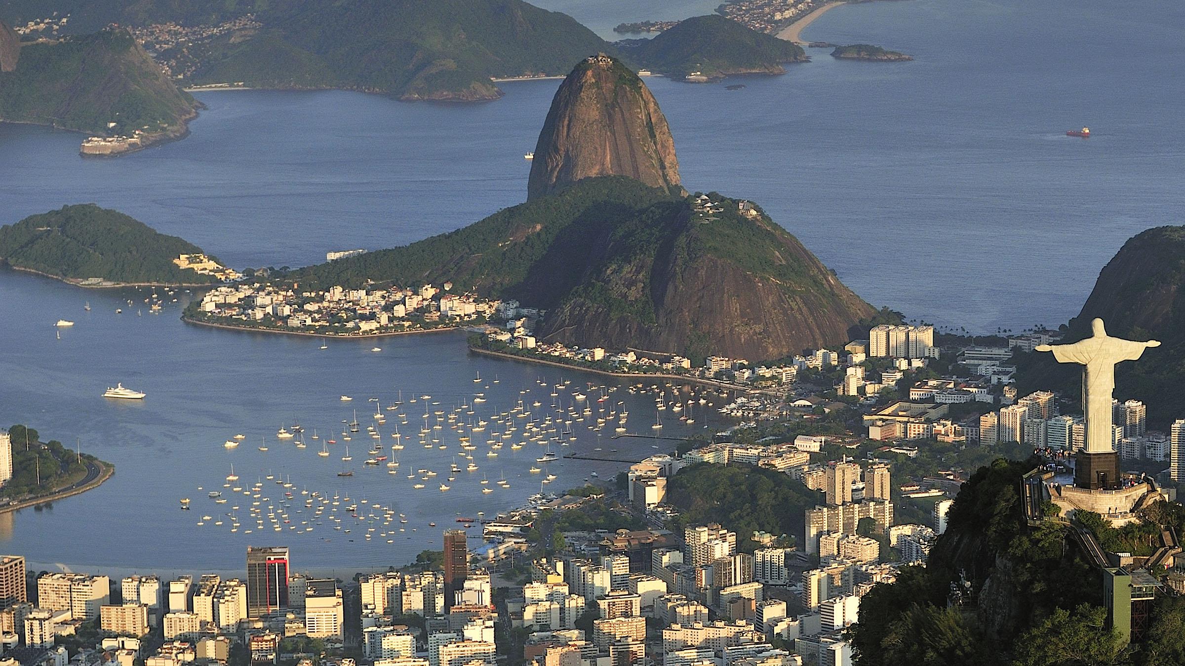 Vista aérea de Rio de Janeiro, Brasil