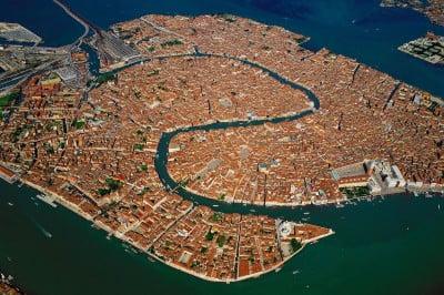 Vista aérea del Gran Canal