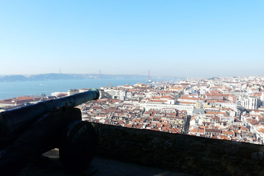 Vista de Lisboa desde el Castillo San Jorge