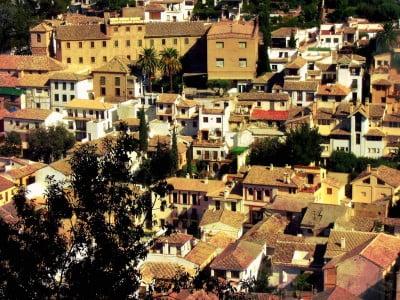 Vista del Barrio del Albaicín de Granada