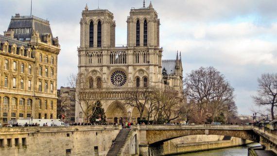 Vistas de la Catedral de Notre Dame en París
