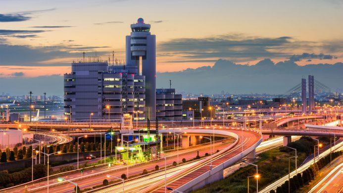 Vistas del Aeropuerto Internacional Haneda en Tokio