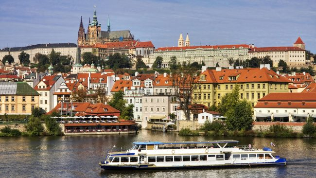 Views of the Castle and the Malá Strana district in Prague