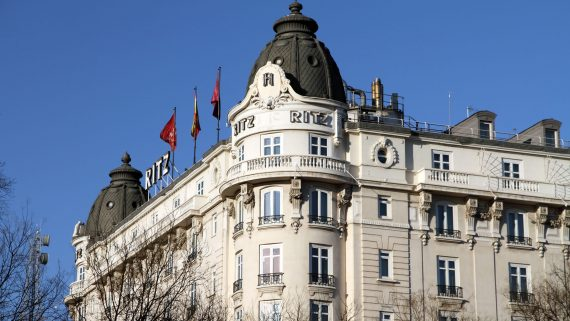 Vistas del hotel Ritz en Madrid