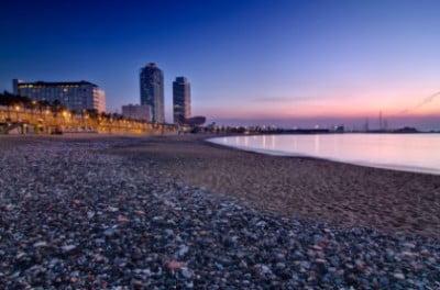 Vistas de la playa de Barcelona