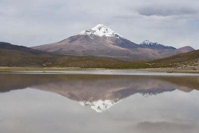 Volcán  Isluga en Chile