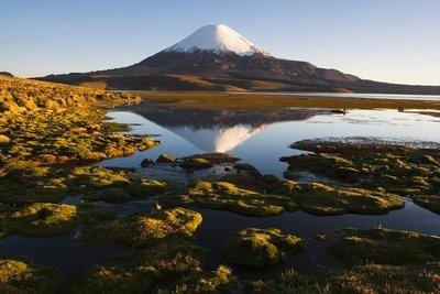 Volcán Parinacota en Chile
