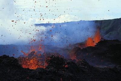 volcanes activos Piton de la Fournaise