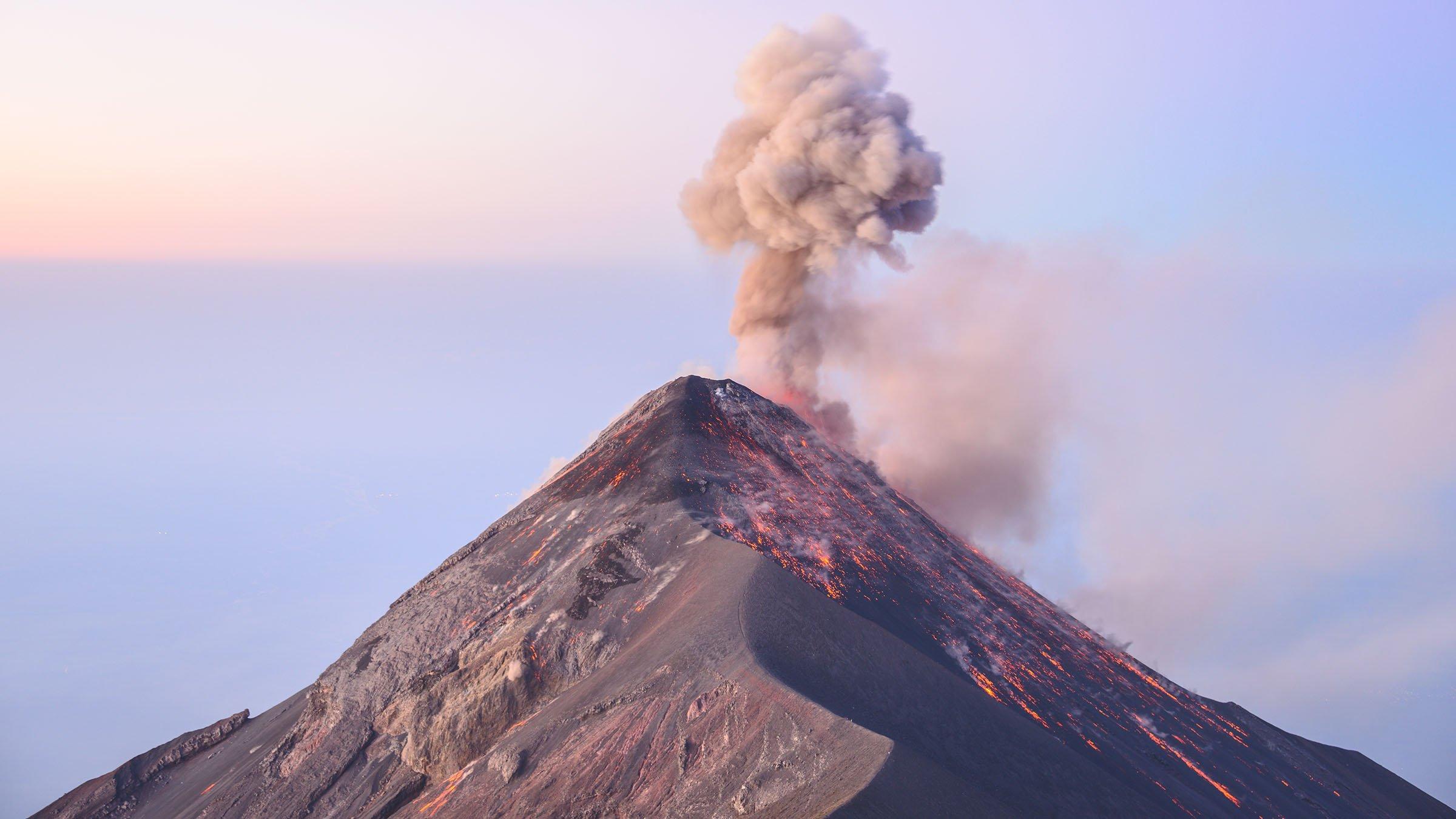 volcanes de Guatemala de Fuego