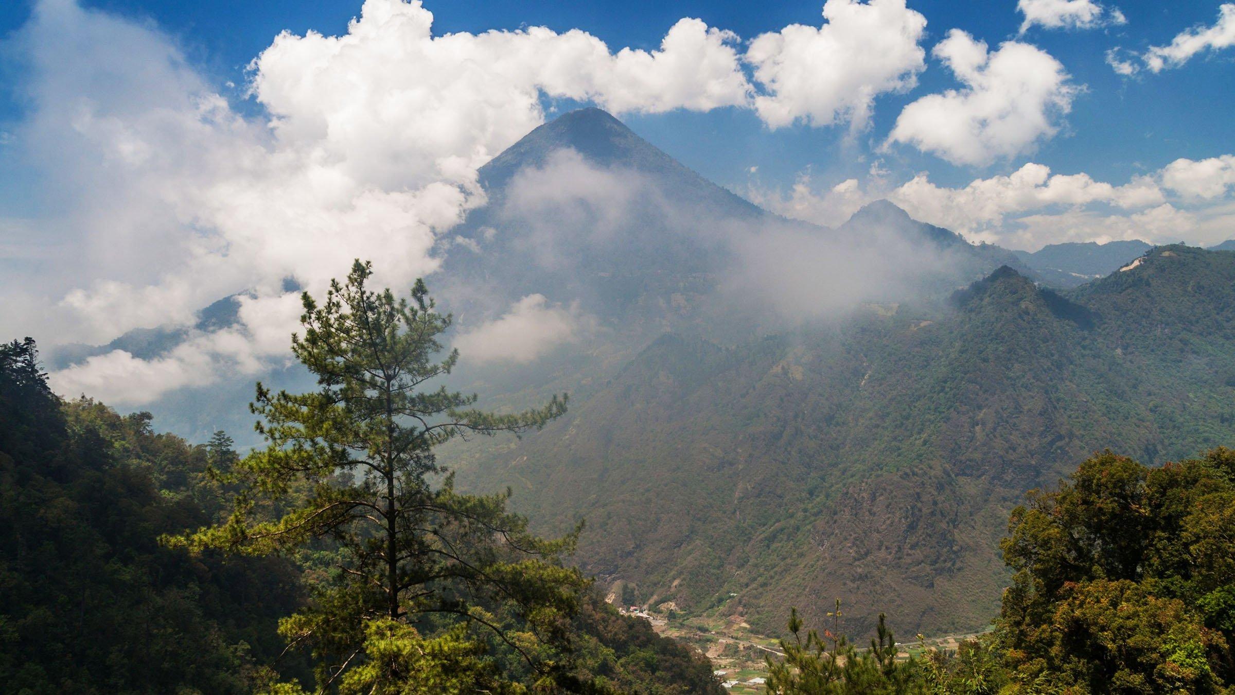 volcanes de Guatemala Santa María