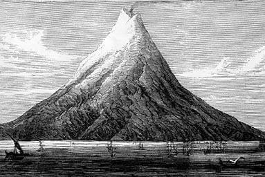 volcanes más importantes el volcán Krakatoa en Indonesia