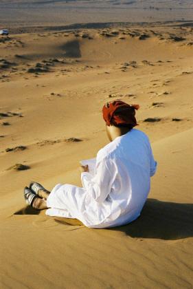 Descansando en el desierto de Wahiba
